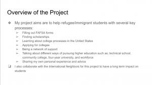 Summary of Aleena's project