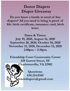Donor Diapers upcoming events